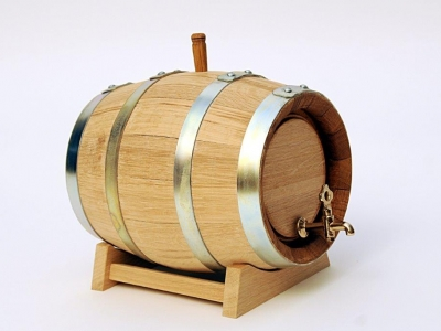 Barrel on the stand