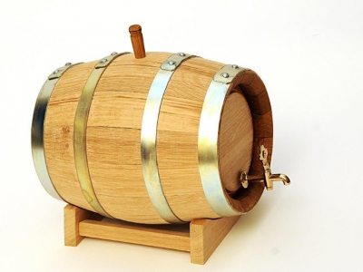 Custom Wooden Barrel on Stand