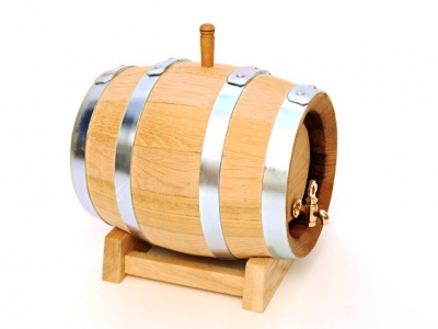 Side view of Wooden Barrel